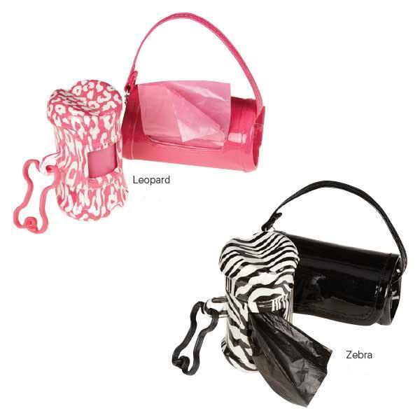 Clean Go Pet Safari Waste Bag Holders 2 Packs Pink Leopard
