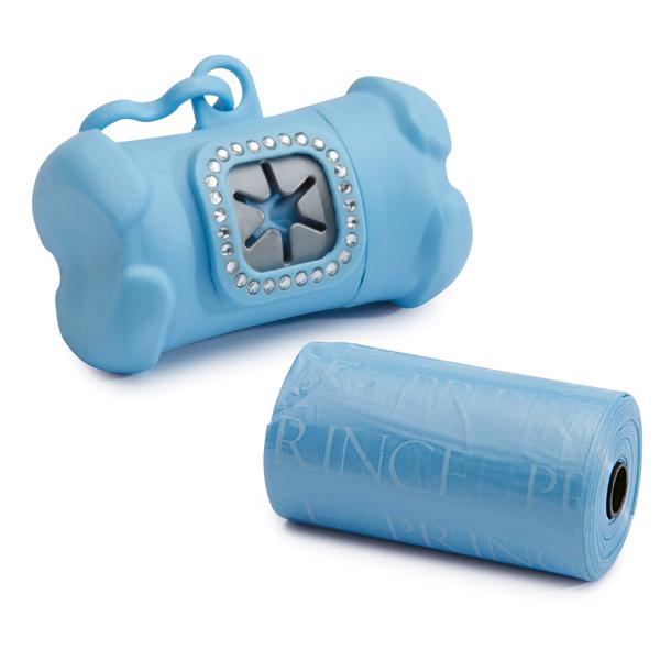 Clean Go Pet Royal Rhinestone Waste Bag Holder Blue